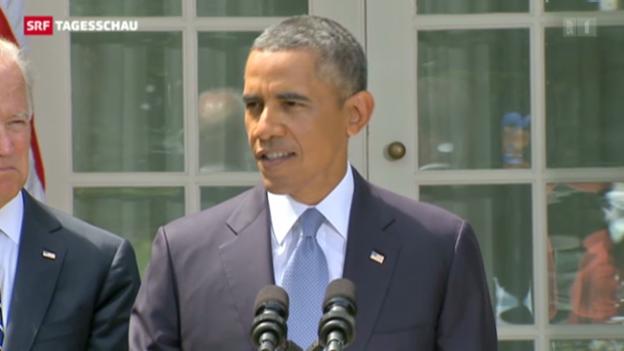 Video «Ausschnitt aus Obamas Rede zu Syrien (übersetzt)» abspielen