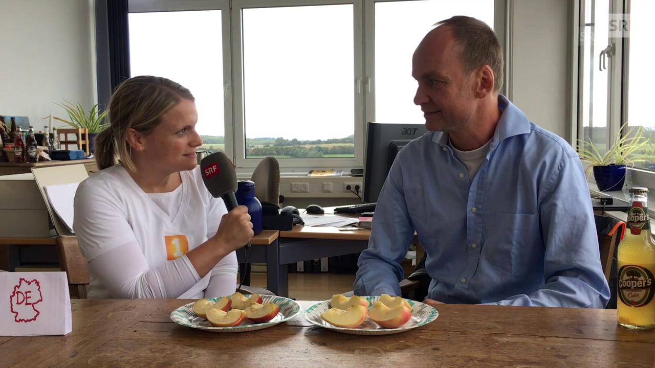 Deutsche oder Schweizer Äpfel? Ein Kelterer im Blindtest