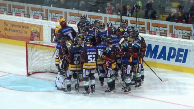 Video «Eishockey: NLA, Playoff-Viertelfinal, Bern-Lausanne, 5. Spiel» abspielen