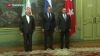 Video «Trilaterales Treffen zum Syrienkonflikt in Moskau» abspielen