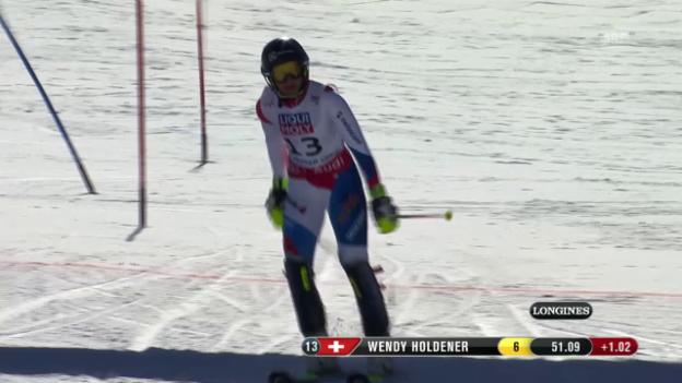 Video «Ski-WM, Vail/Beaver Creek, SL Frauen, 1. Lauf Holdener» abspielen