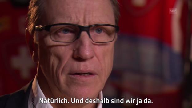Video «Eishockey: Nati-Coach Glen Hanlon über die kommende WM in Prag» abspielen