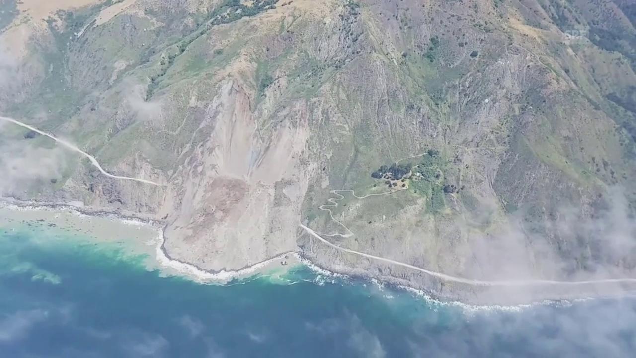 Der verschüttete Highway 1 in Kalifornien (unkomm.)