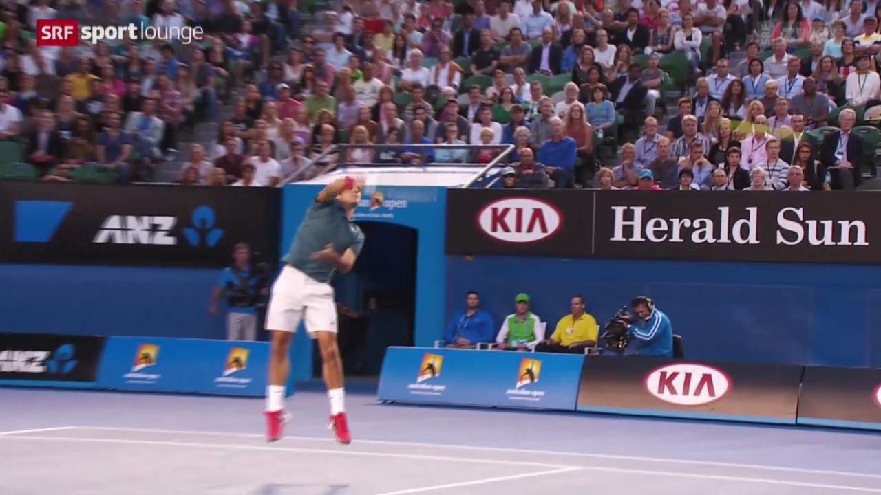 Tennis: Australian Open, Federer - Tsonga