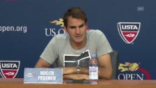 Video «Tennis, US Open: Roger Federer über Richard Gasquet (Quelle: SNTV)» abspielen