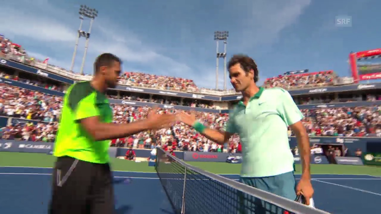 Tennis: ATP Toronto, Federer - Tsonga, wichtige Bälle