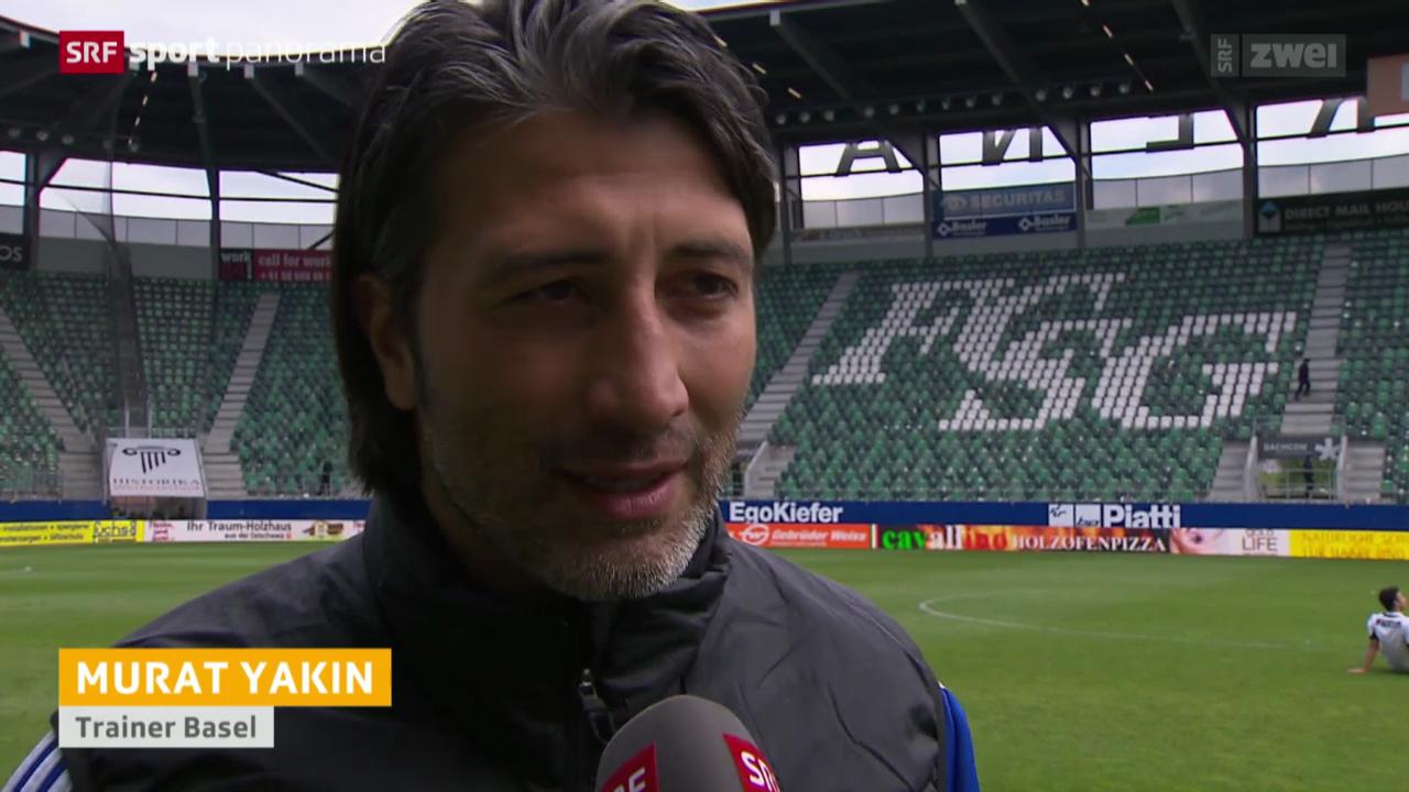 Fussball: Stimmen zu St. Gallen - Basel