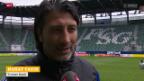 Video «Fussball: Stimmen zu St. Gallen - Basel» abspielen