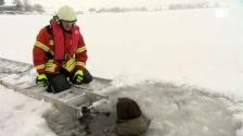 Video «Eisrettung im Sihlsee» abspielen