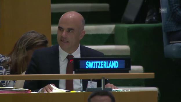 Video «Bersets Rede vor der UNO» abspielen