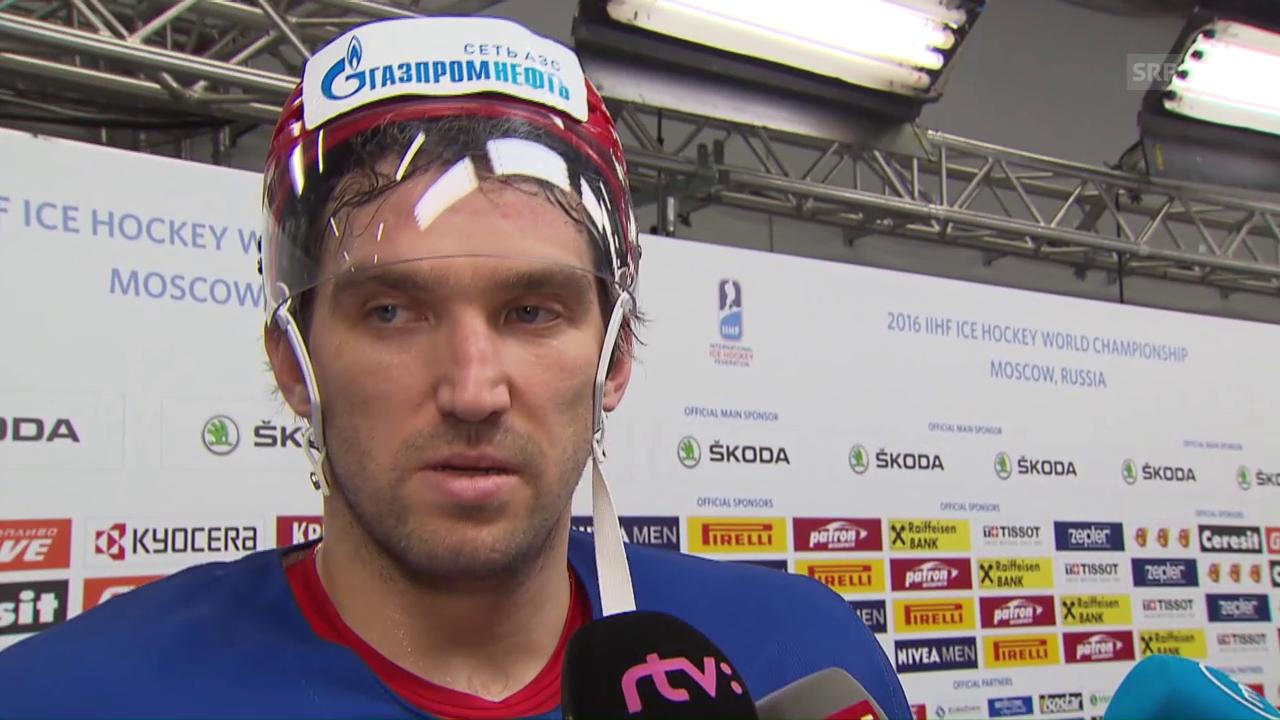 Alexander Owetschkin: «Brauche wohl ein, zwei Spiele» (englisch)