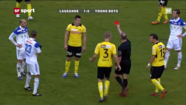 Fussball: Raul Bobadilla sieht gegen Lausanne die rote Karte (Beitrag «sportpanorama»)
