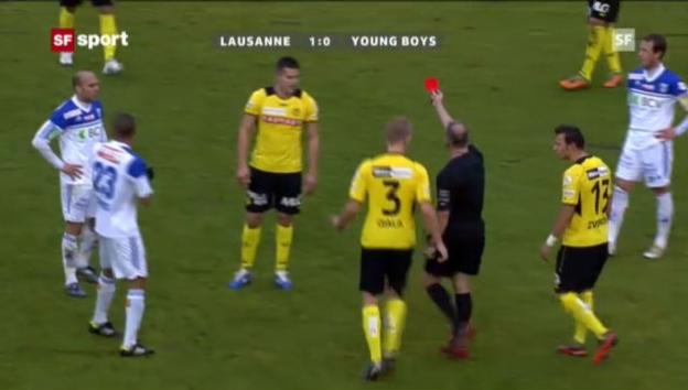 Video «Fussball: Raul Bobadilla sieht gegen Lausanne die rote Karte (Beitrag «sportpanorama»)» abspielen