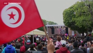 Video «Tunesier demonstrieren nach Attentat auf Museum gegen Terror» abspielen