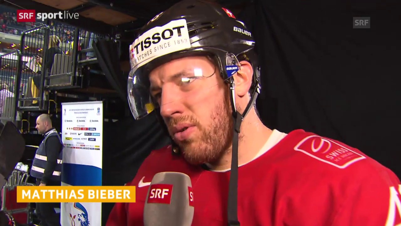 Eishockey: WM Vorrunde, Schweiz - Deutschland, Interview Bieber
