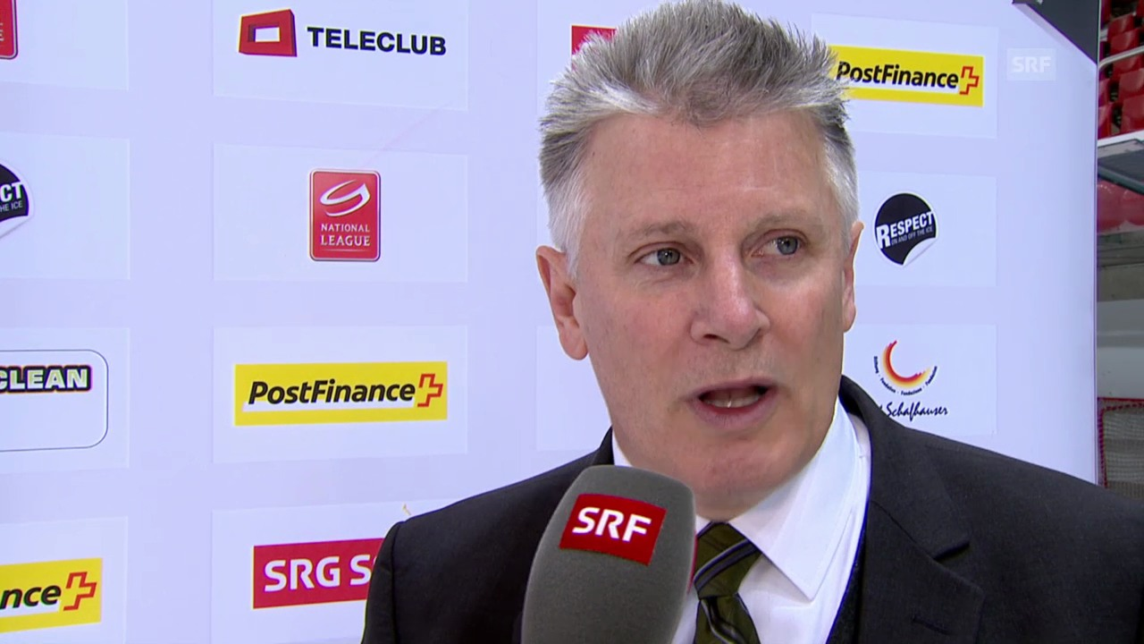 Eishockey: Lausanne - ZSC, Interview mit Marc Crawford (in Englisch)