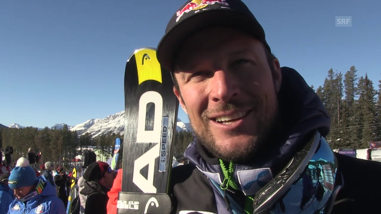 Ski: Abfahrt Lake Louise, Interview Svindal