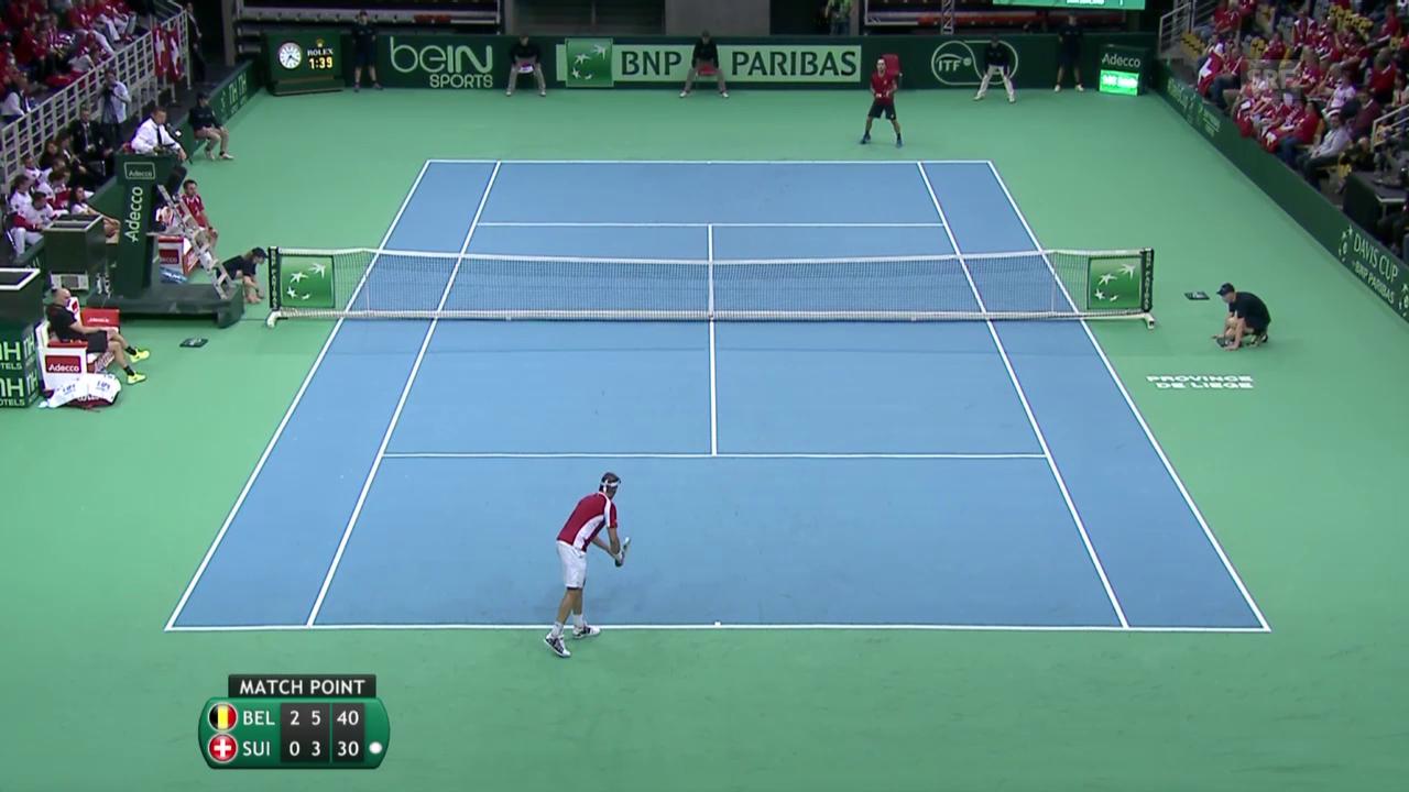 Tennis: Davis Cup, Belgien-Schweiz, Lammer-Darcis