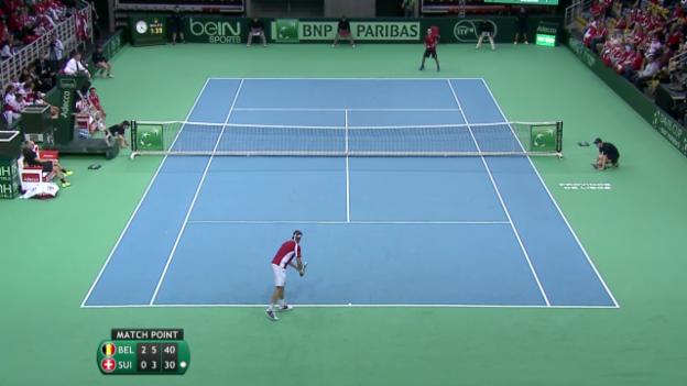 Video «Tennis: Davis Cup, Belgien-Schweiz, Lammer-Darcis» abspielen