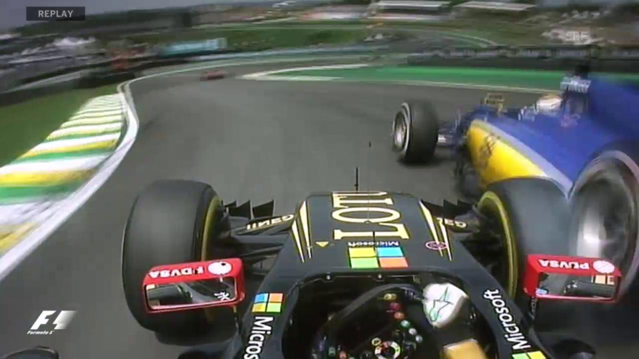 F1: GP Brasilien, Ericsson vs. Maldonado