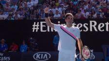 Link öffnet eine Lightbox. Video Zusammenfassung Federer - Fucsovics abspielen