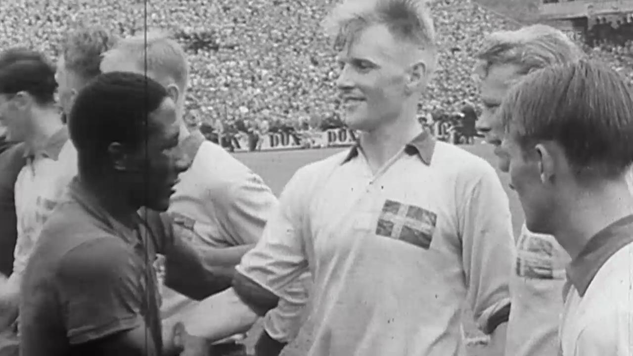 Fussball: WM 1958, Final Schweden-Brasilien