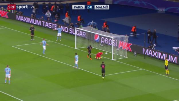 Video «Fussball: Champions League Zusammenfassung Paris - Malmö» abspielen
