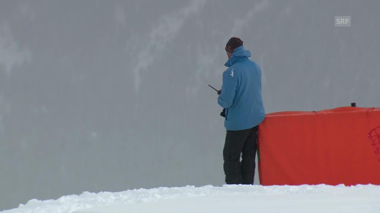 Ski: Abfahrt Männer, zu viel Nebel in St. Moritz («sportlive», 01.02.2014)