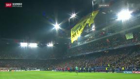 Video «Strafanzeige gegen Greenpeace nach Aktion während Fussball-Spiel» abspielen