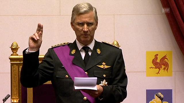 Könige Philippe bei der Amtseinsetzung