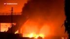 Video «Tote bei einem Zugunglück in Italien» abspielen