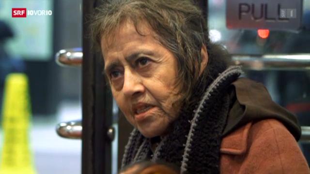 Obdachlose in New York trotzen der Kälte