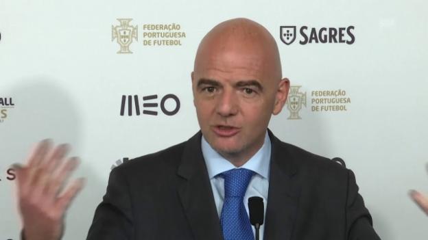 Video «Infantino: «Wir wollen den Fussball feiern» (Quelle: SNTV)» abspielen