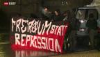 Video «Verletzter nach unbewilligter Demo» abspielen