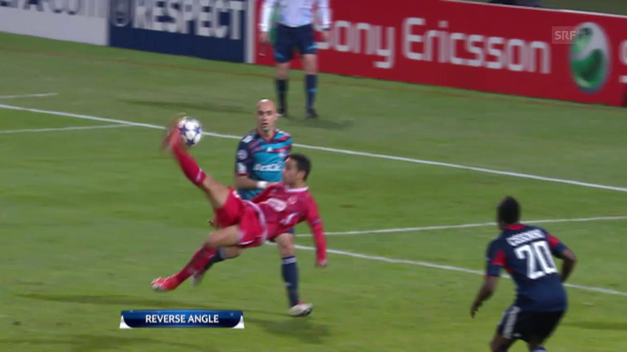 Fussball: Champions League, Eran Zahavis Treffer gegen Lyon