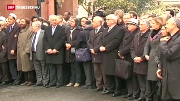Video «Trauerzeremonie für Toulouse-Opfer» abspielen