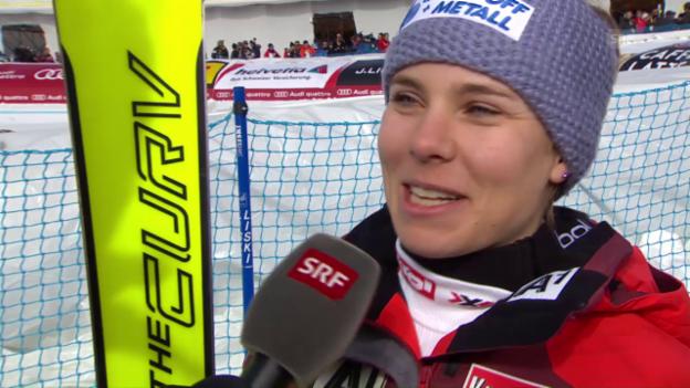 Video «Schmidhofer: «Ich habe mich nur aufs Skifahren konzentriert»» abspielen