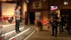 Video «Nicolas Senn kurz vor seinem grossen Auftritt» abspielen