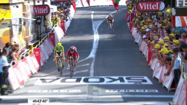 Video «Rad: Tour de France, 13. Etappe, Schlusssprint» abspielen