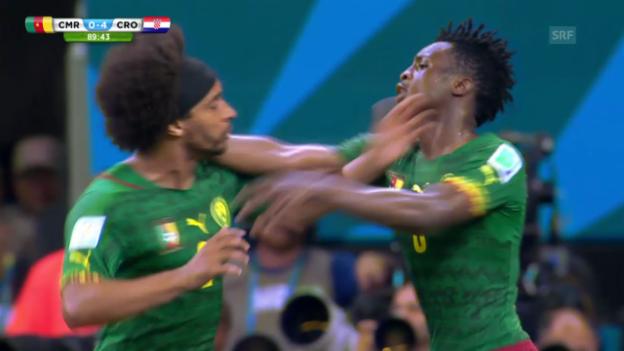 Video «Fussball: WM 2014, CMR-CRO, Interner Streit im Team Kameruns» abspielen