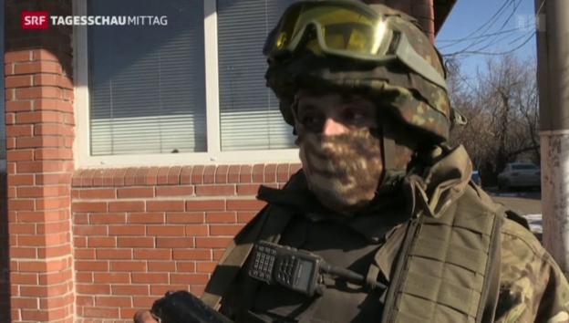 Video «Ukrainische Truppen verlassen Debalzewe» abspielen