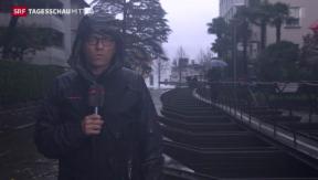 Video «Hochwassergefahr im Tessin hält an» abspielen