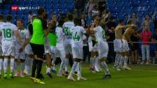 Link öffnet eine Lightbox. Video St. Gallen mit Last-Minute-Sieg in Basel abspielen