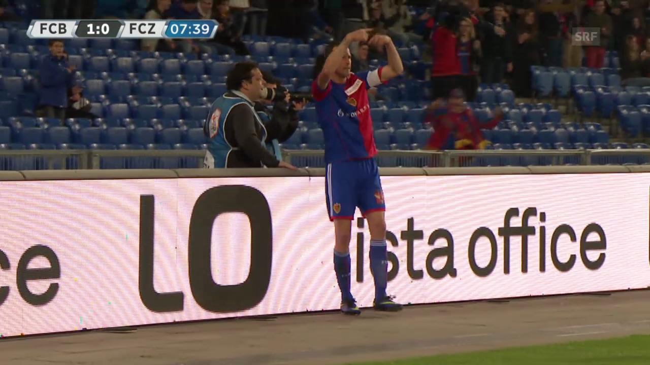 Fussball: Basel - FCZ, Das Tor zum 1:0