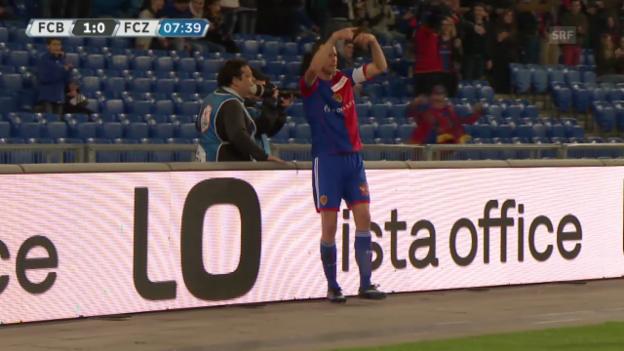 Video «Fussball: Basel - FCZ, Das Tor zum 1:0» abspielen