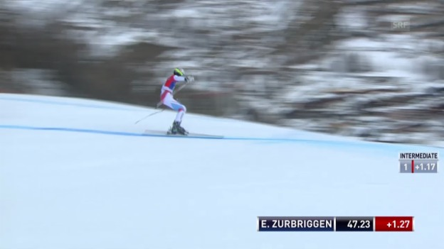Video «Ski alpin: Riesenslalom Männer Val d'Isère, 1. Lauf von Elia Zurbriggen («sportlive»)» abspielen