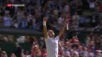 Video «Federer wehrt drei Matchbälle ab» abspielen