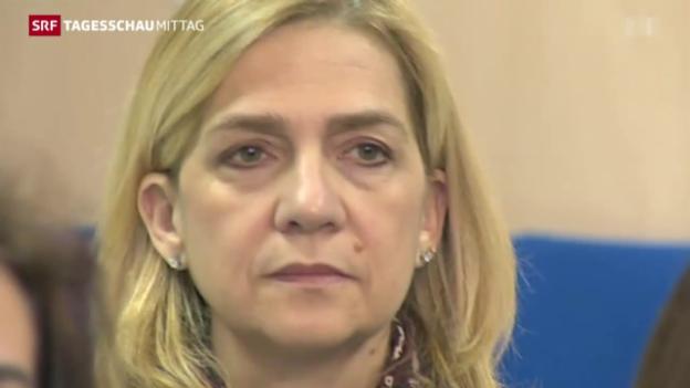 Video «Mitglied spanischer Königsfamilie vor Gericht» abspielen