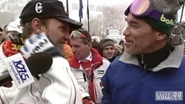 Video «WM-Rückblick 1999: Doppel-Gold für Hermann Maier» abspielen