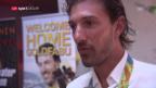 Video «Olympiasieger Cancellara in Bern begeistert empfangen» abspielen